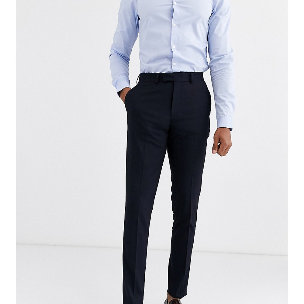 TALL - Pantalon de costume slim - Bleu marine - ASOS DESIGN - Modalova