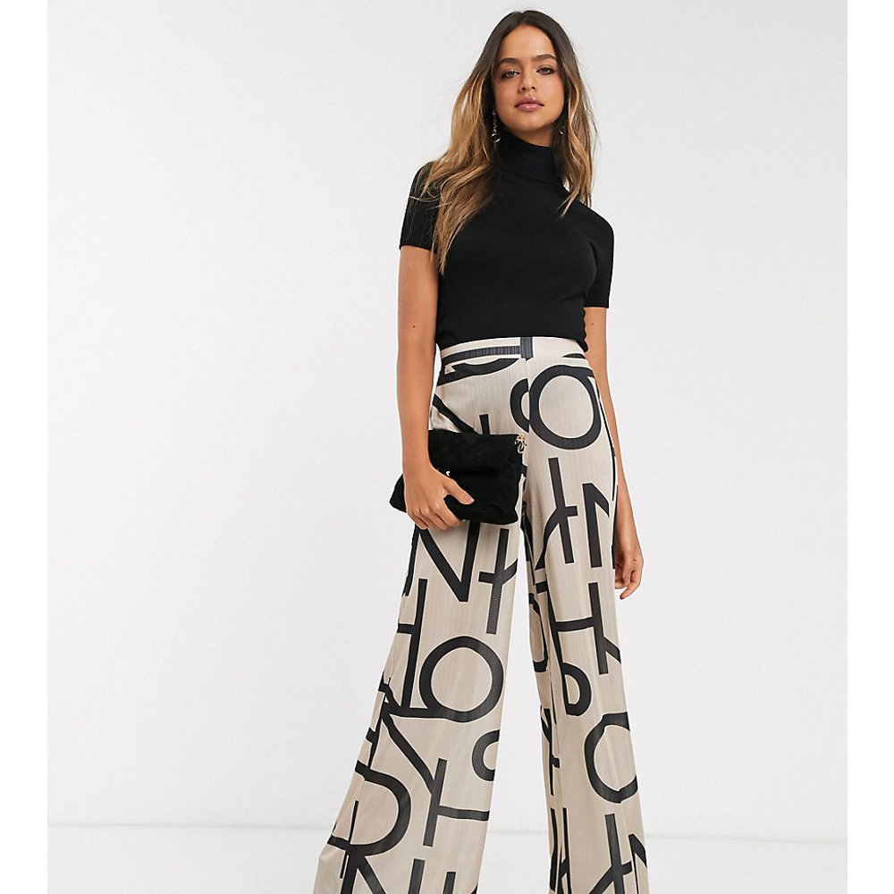 ASOS DESIGN Tall - Pantalon large en satin à imprimé abstrait - ASOS Tall - Modalova