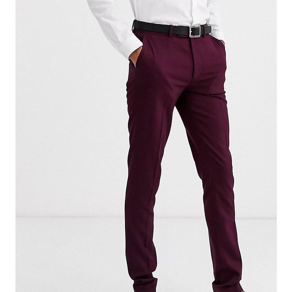 Tall - Pantalon skinny habillé - Bordeaux foncé - ASOS DESIGN - Modalova