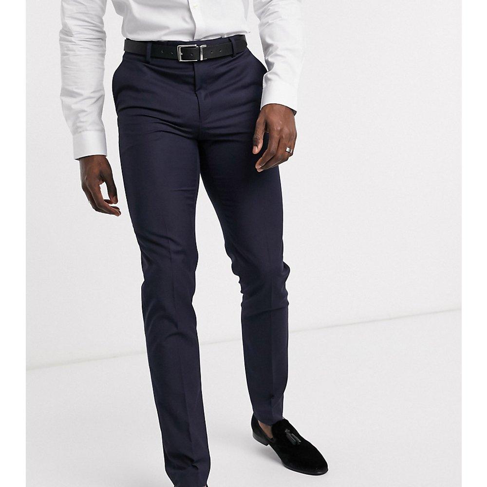 Tall - Pantalon slim de costume - Bleu marine - ASOS DESIGN - Modalova