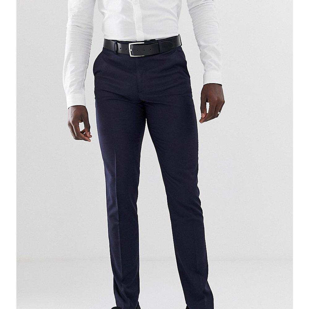 Tall - Pantalon slim habillé - Bleu marine - ASOS DESIGN - Modalova