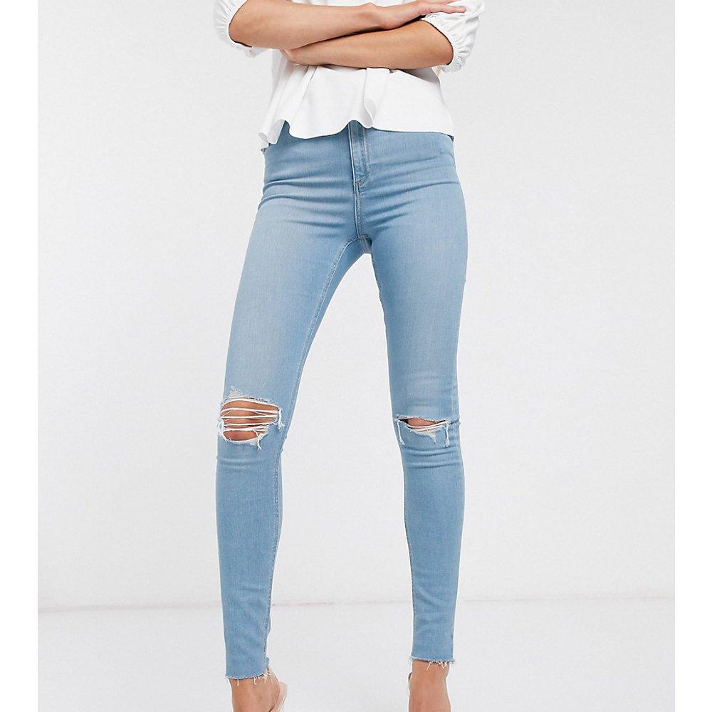 ASOS DESIGN Tall - Ridley - Jean skinny à taille haute et déchirures - vif délavé - ASOS Tall - Modalova