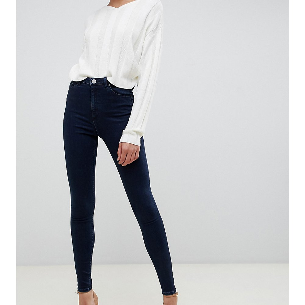 ASOS DESIGN Tall - Ridley - Jean skinny taille haute - Délavage foncé - ASOS Tall - Modalova