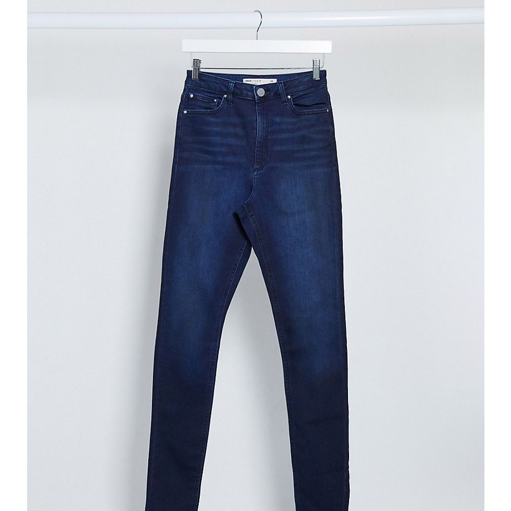 ASOS DESIGN Tall - Ridley - Jean skinny taille haute - Délavé moyen intense - ASOS Tall - Modalova