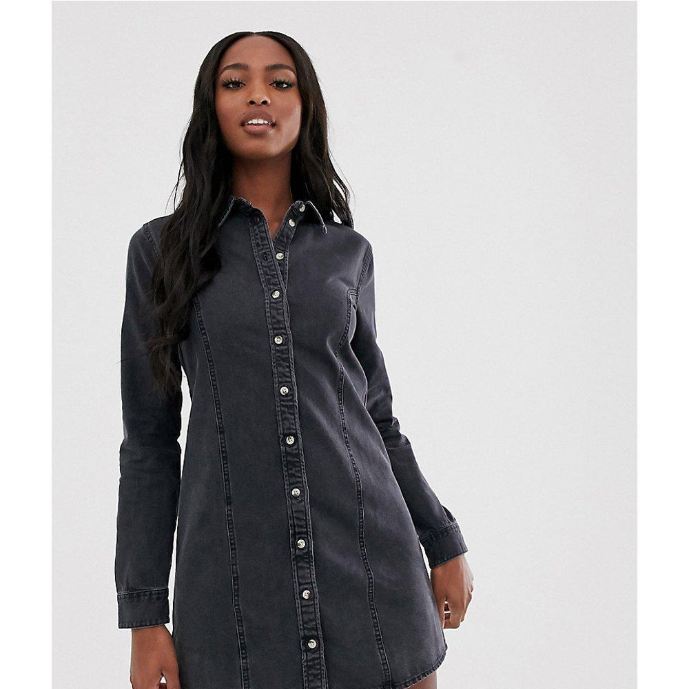 ASOS DESIGN Tall - Robe chemise ajustée en jean style western - délavé - ASOS Tall - Modalova