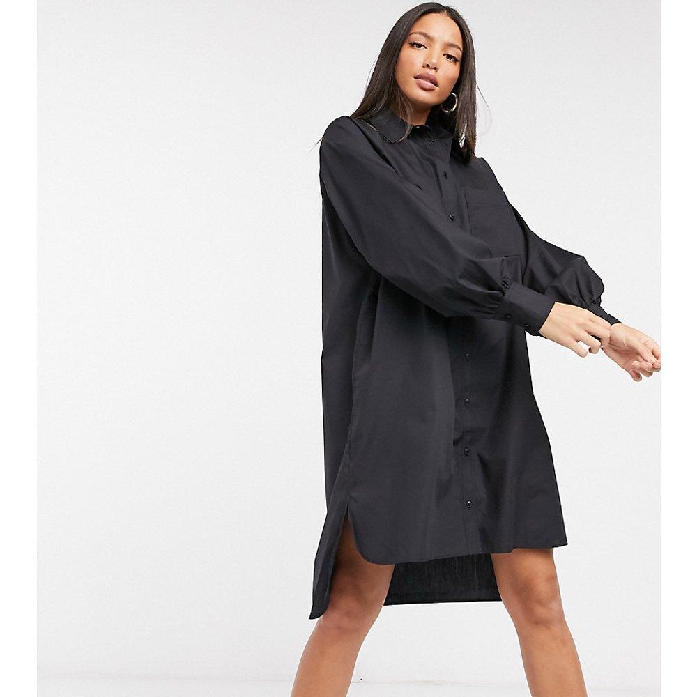 ASOS DESIGN Tall - Robe chemise courte oversize en popeline de coton coupe masculine - ASOS Tall - Modalova