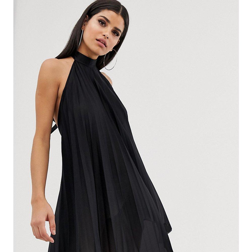 ASOS DESIGN Tall - Robe courte dos nu plissée - ASOS Tall - Modalova