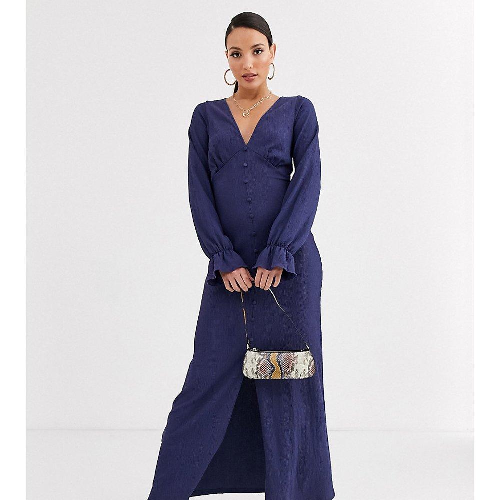 ASOS DESIGN Tall - Robe longue texturée à manches longues et boutonnage - ASOS Tall - Modalova