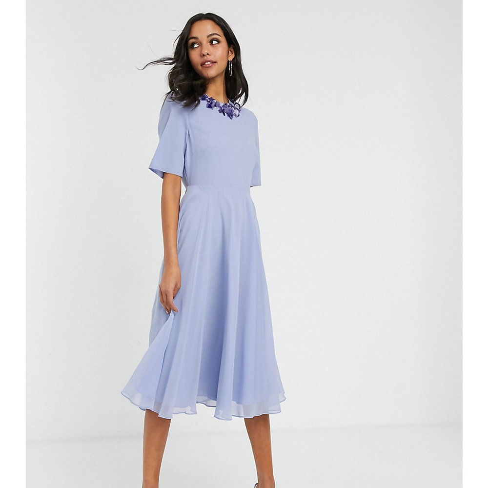 ASOS DESIGN Tall - Robe mi-longue à encolure ornementée avec crop top - ASOS Tall - Modalova