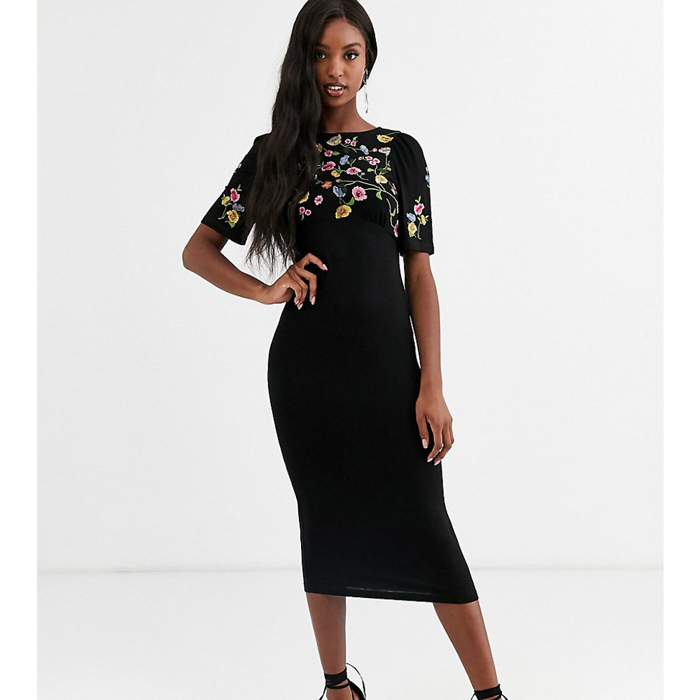 ASOS DESIGN Tall - Robe mi-longue brodée - ASOS Tall - Modalova