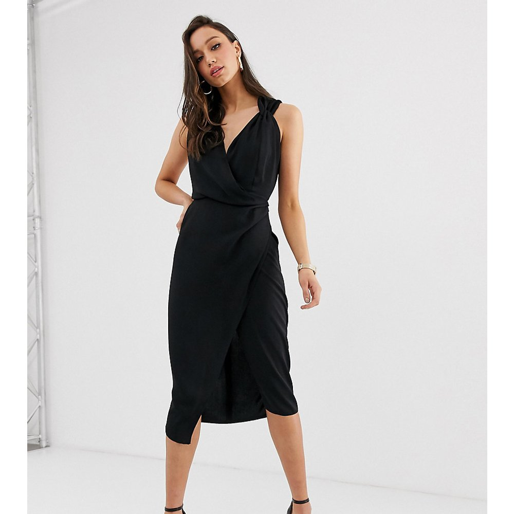 ASOS DESIGN Tall - Robe mi-longue portefeuille - ASOS Tall - Modalova