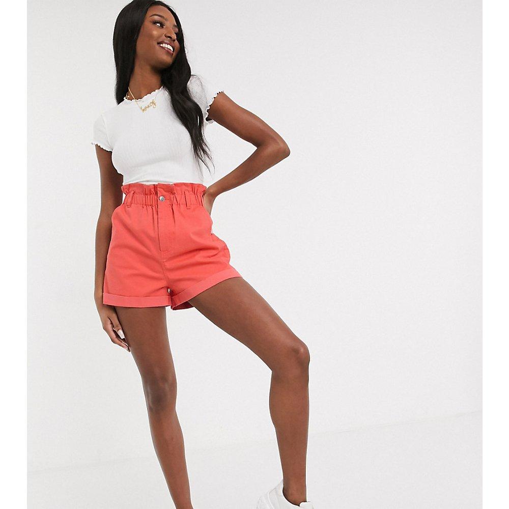 ASOS DESIGN Tall - Short casual à taille haute froncée - Corail - ASOS Tall - Modalova