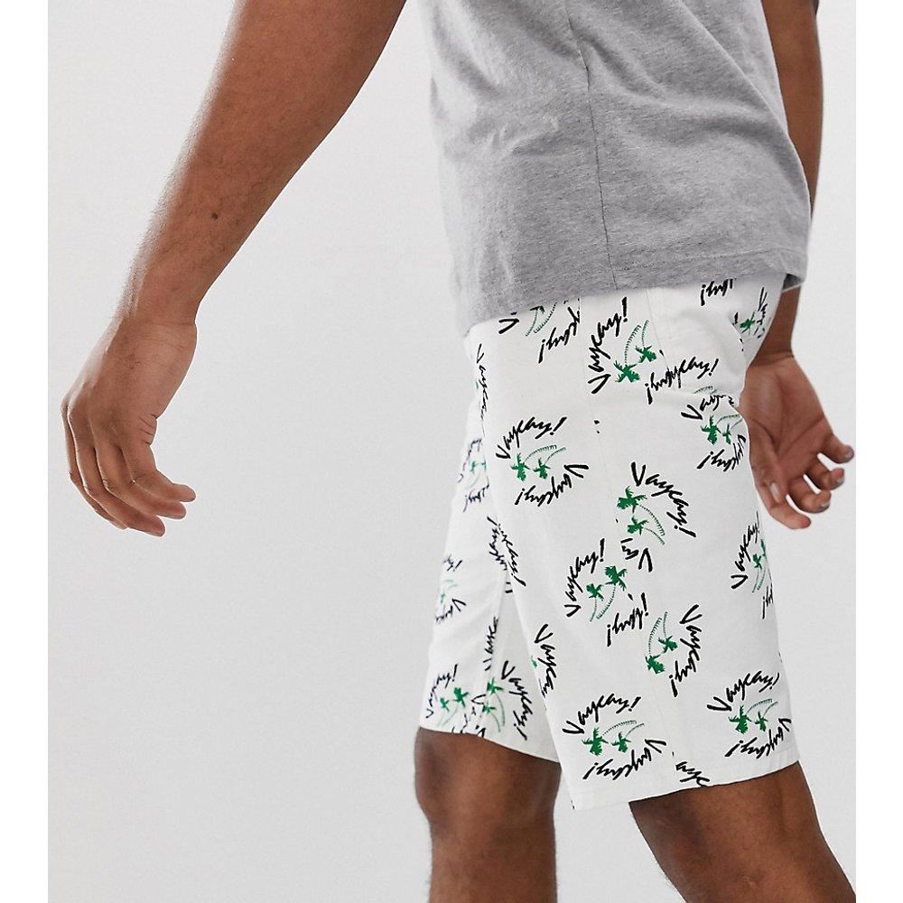 Tall - Short slim en jean à imprimé vacances - ASOS DESIGN - Modalova