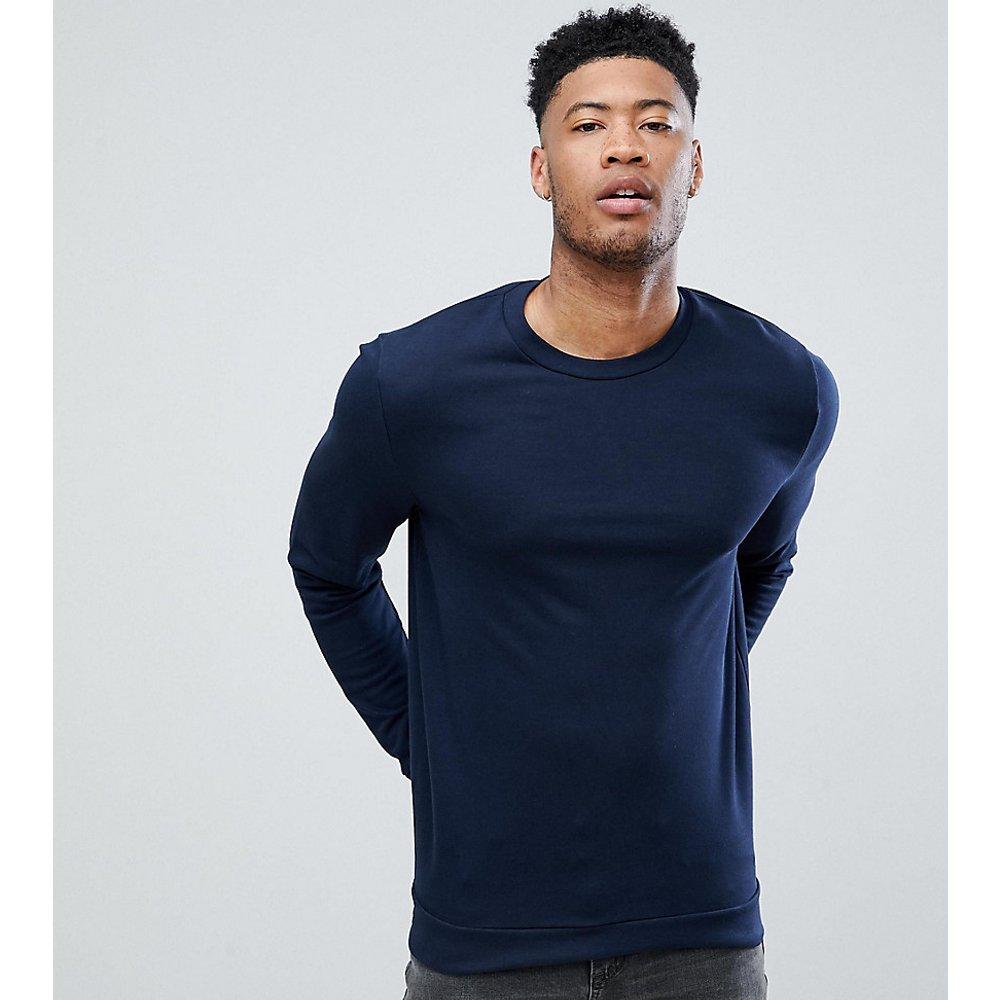 Tall - Sweat-shirt en tissu biologique - Bleu marine - ASOS DESIGN - Modalova