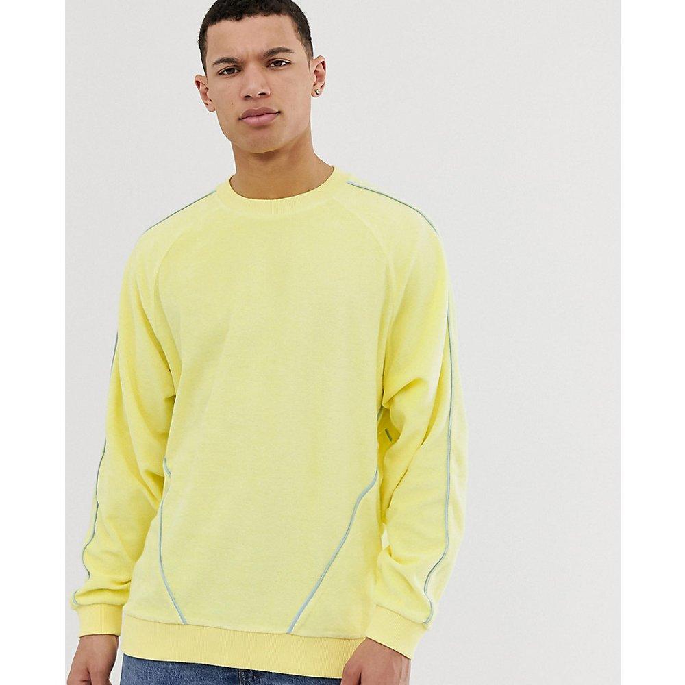 Tall - Sweat-shirt oversize en tissu éponge avec passepoils - ASOS DESIGN - Modalova