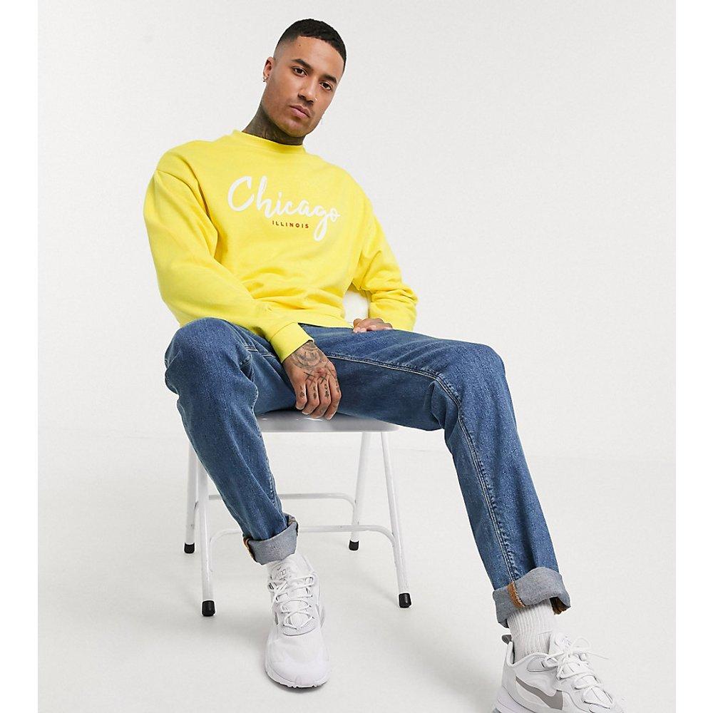 Tall - Sweat-shirt oversize imprimé Chicago - ASOS DESIGN - Modalova