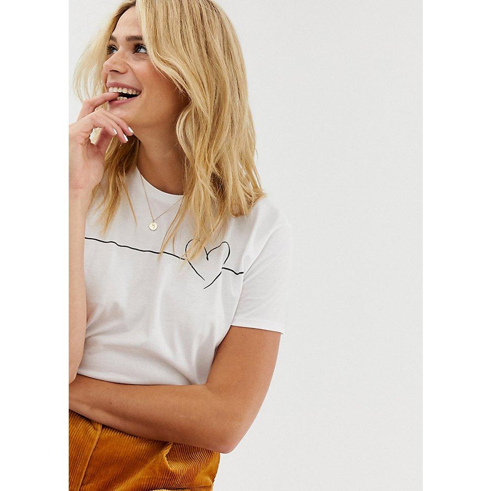 ASOS DESIGN Tall - T-shirt à motif cœur - ASOS Tall - Modalova