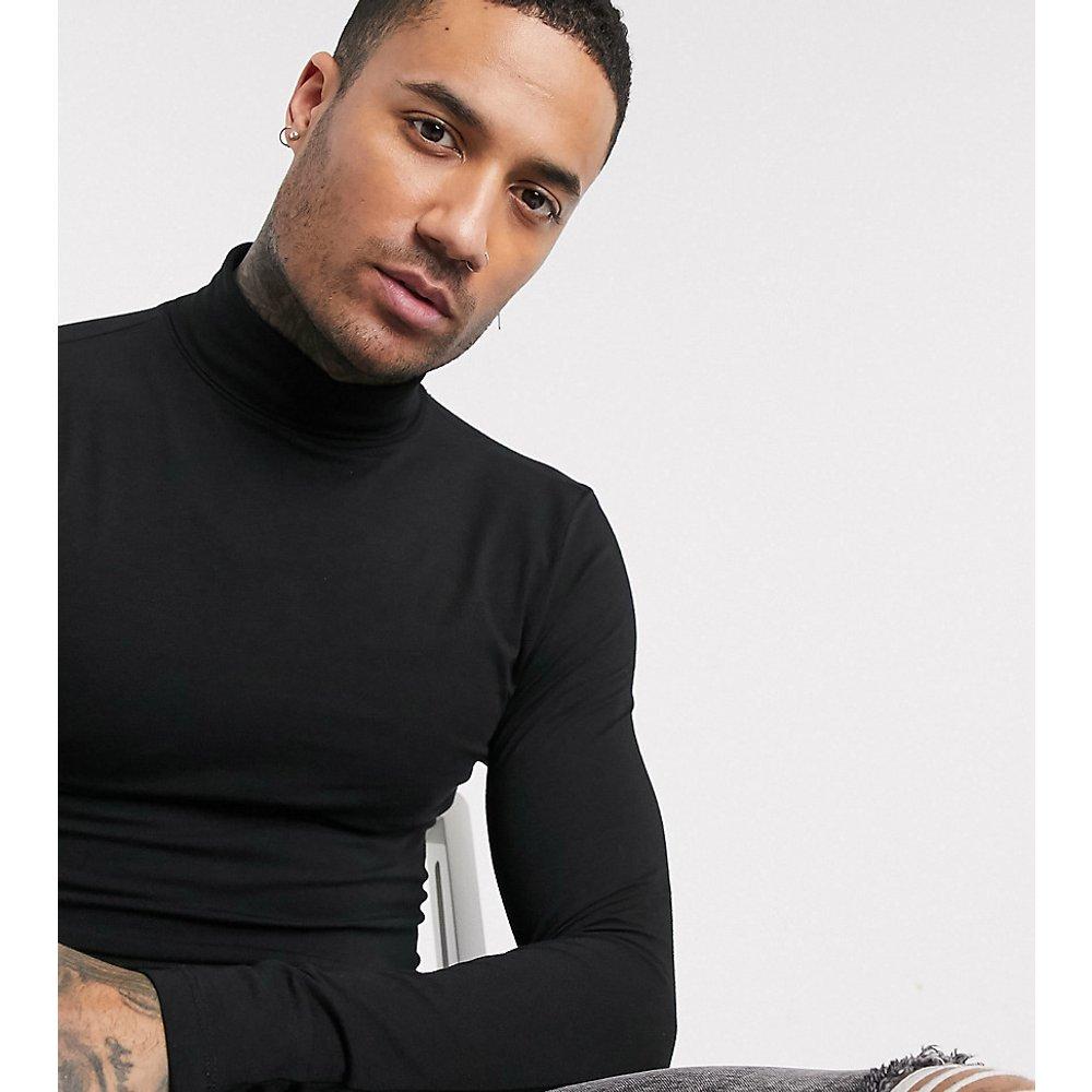 Tall - T-shirt col roulé moulant en jersey - ASOS DESIGN - Modalova