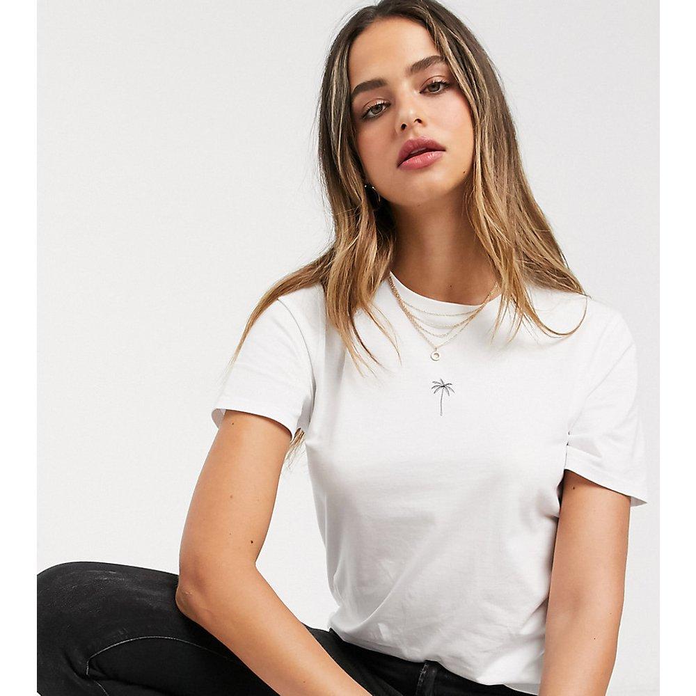 ASOS DESIGN Tall - T-shirt en coton biologique avec minuscule imprimé palmier - ASOS Tall - Modalova