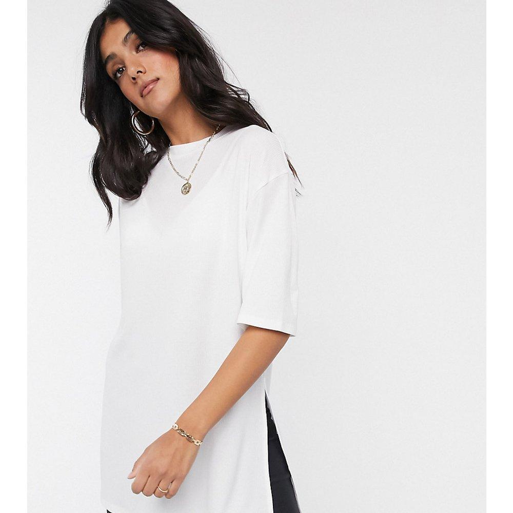 ASOS DESIGN Tall - T-shirt long décontracté côtelé avec fentes latérales - ASOS Tall - Modalova