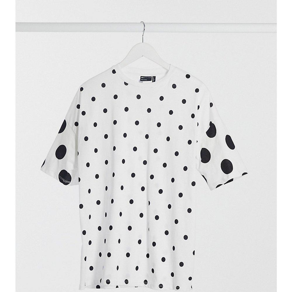 ASOS DESIGN Tall - T-shirt oversize à pois - Noir et - ASOS Tall - Modalova