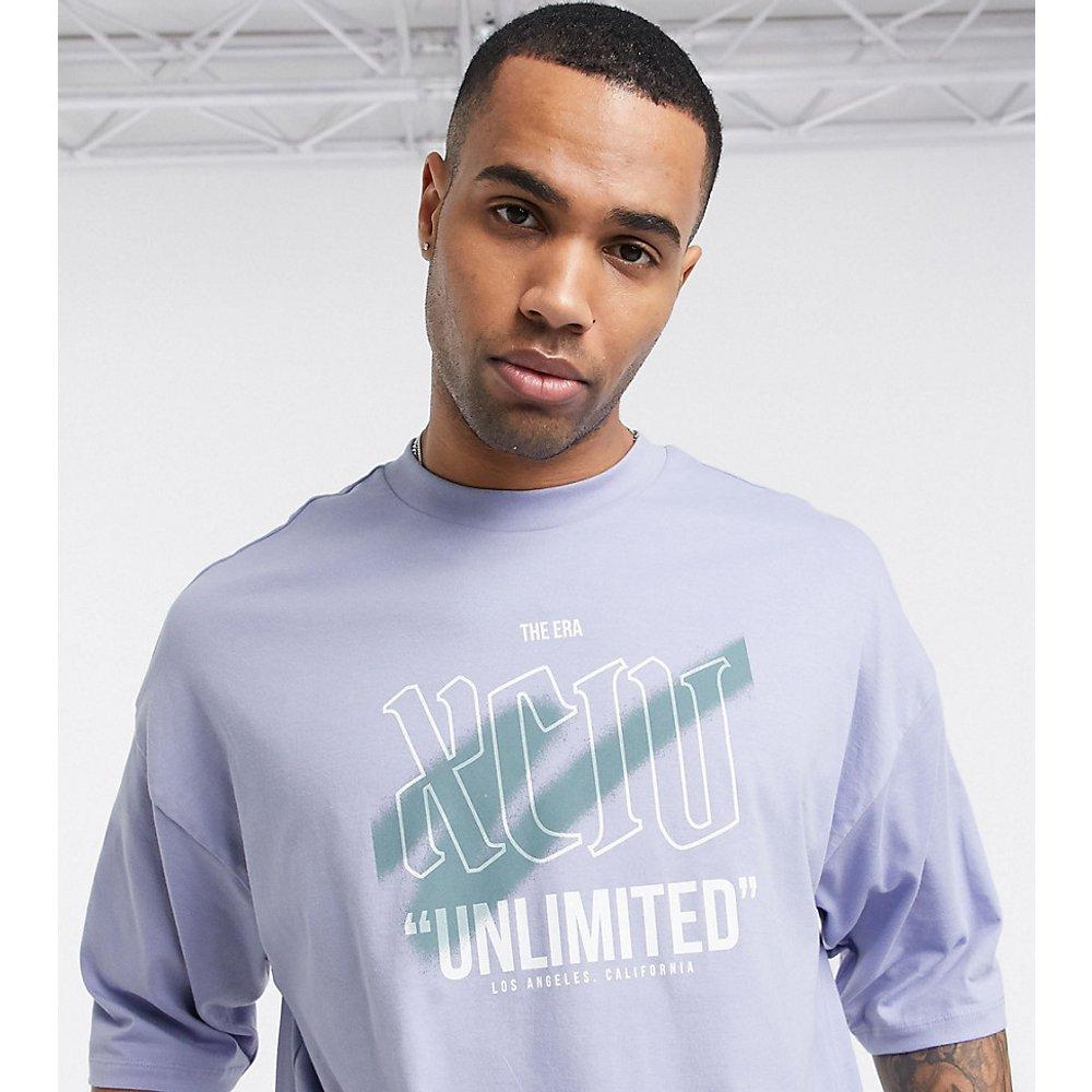 Tall - T-shirt oversize en coton biologique à imprimé graffiti - ASOS DESIGN - Modalova