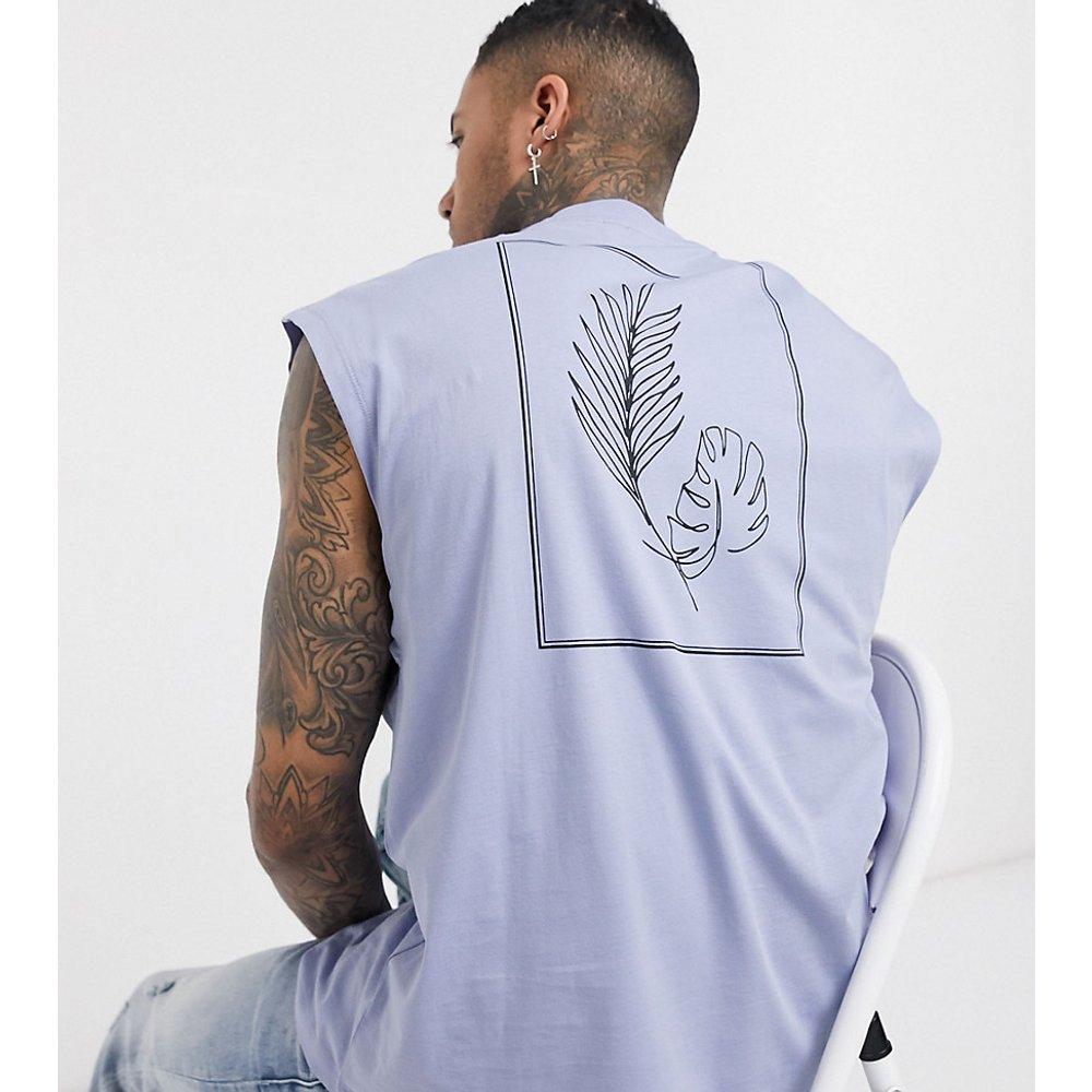 Tall - T-shirt sans manches oversize à imprimé - Lilas - ASOS DESIGN - Modalova