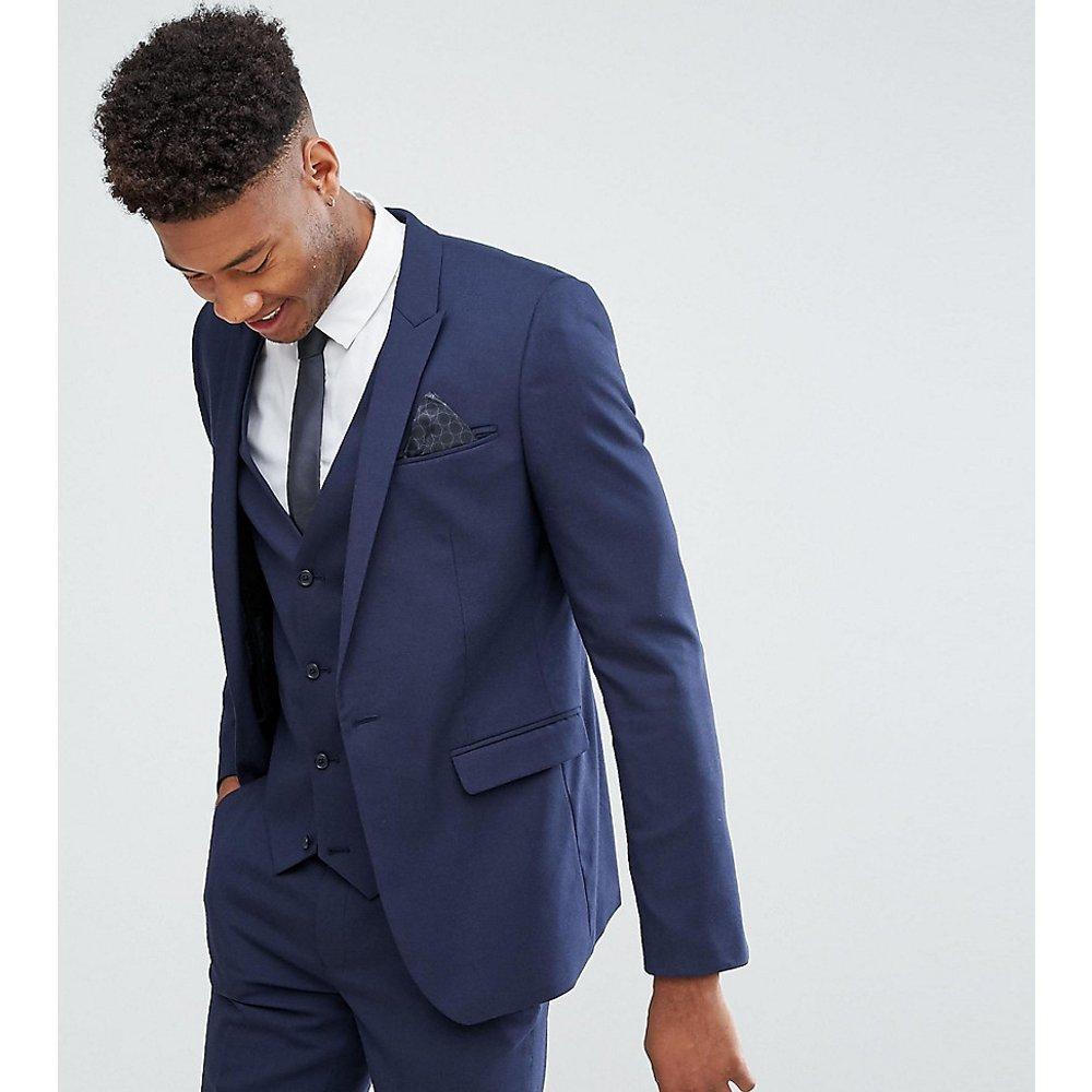 Tall - Veste de costume ajustée - Bleu marine - ASOS DESIGN - Modalova