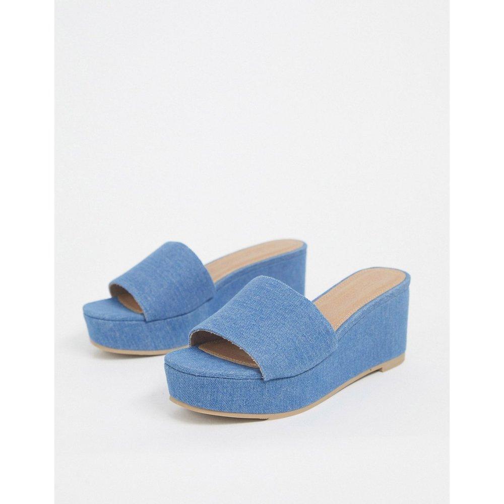 Tazlin - Chaussures semi-compensées en jean - ASOS DESIGN - Modalova