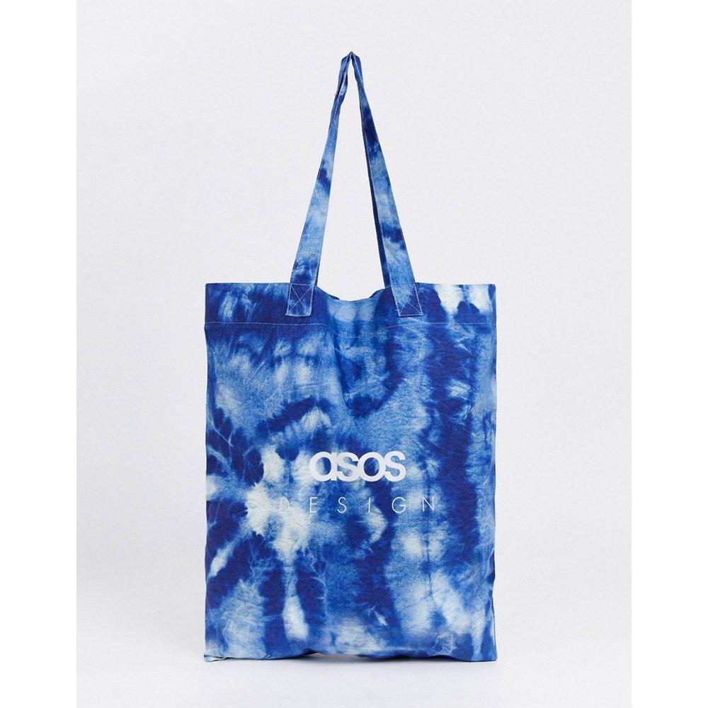 Tote bag griffé en coton biologique à imprimé effet tie-dye - ASOS DESIGN - Modalova