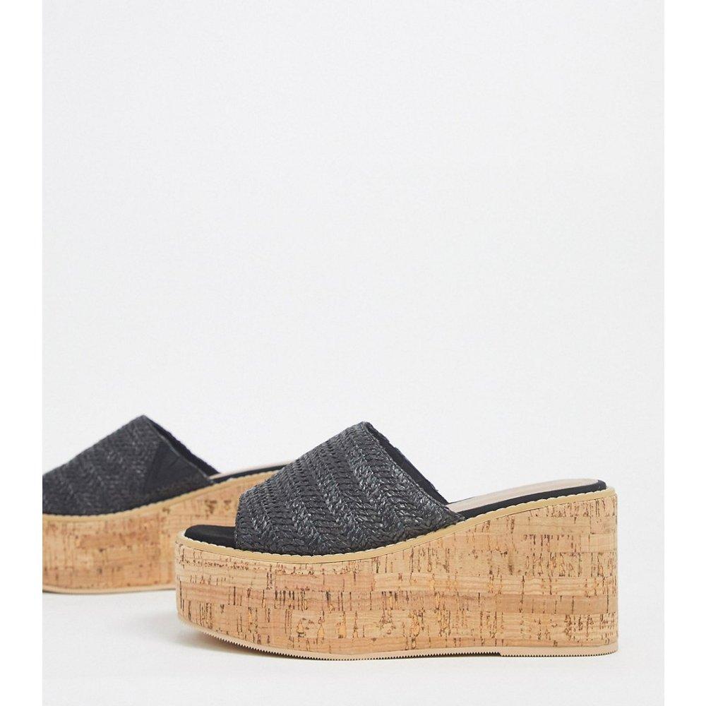 Toya - Chaussures compensées en liège - tissé - ASOS DESIGN - Modalova