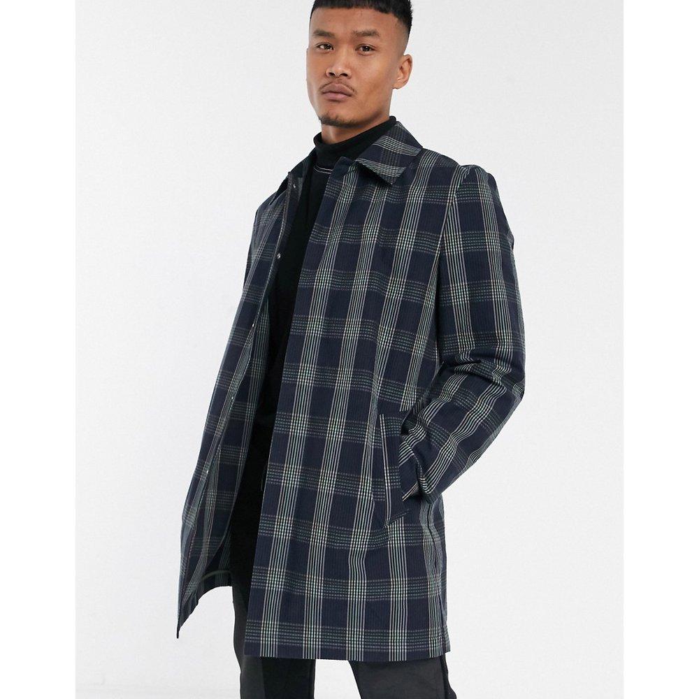Trench-coat à carreaux bleus - ASOS DESIGN - Modalova