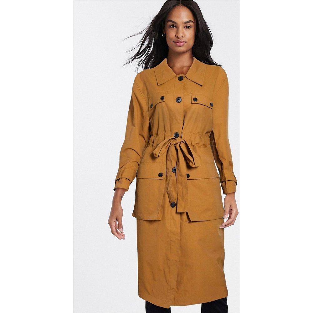 Trench-coat à quatre poches - Ocre - ASOS DESIGN - Modalova