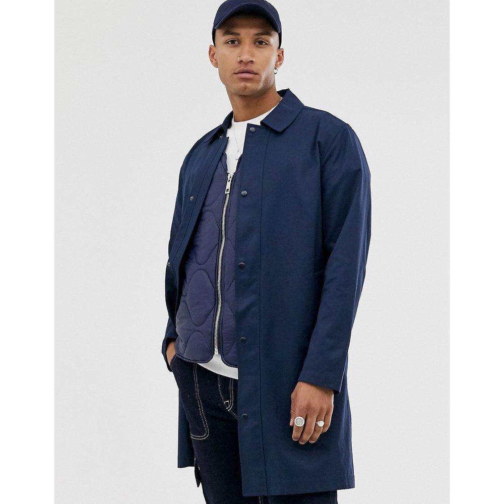Trench-coat coupe droite - Bleu marine - ASOS DESIGN - Modalova