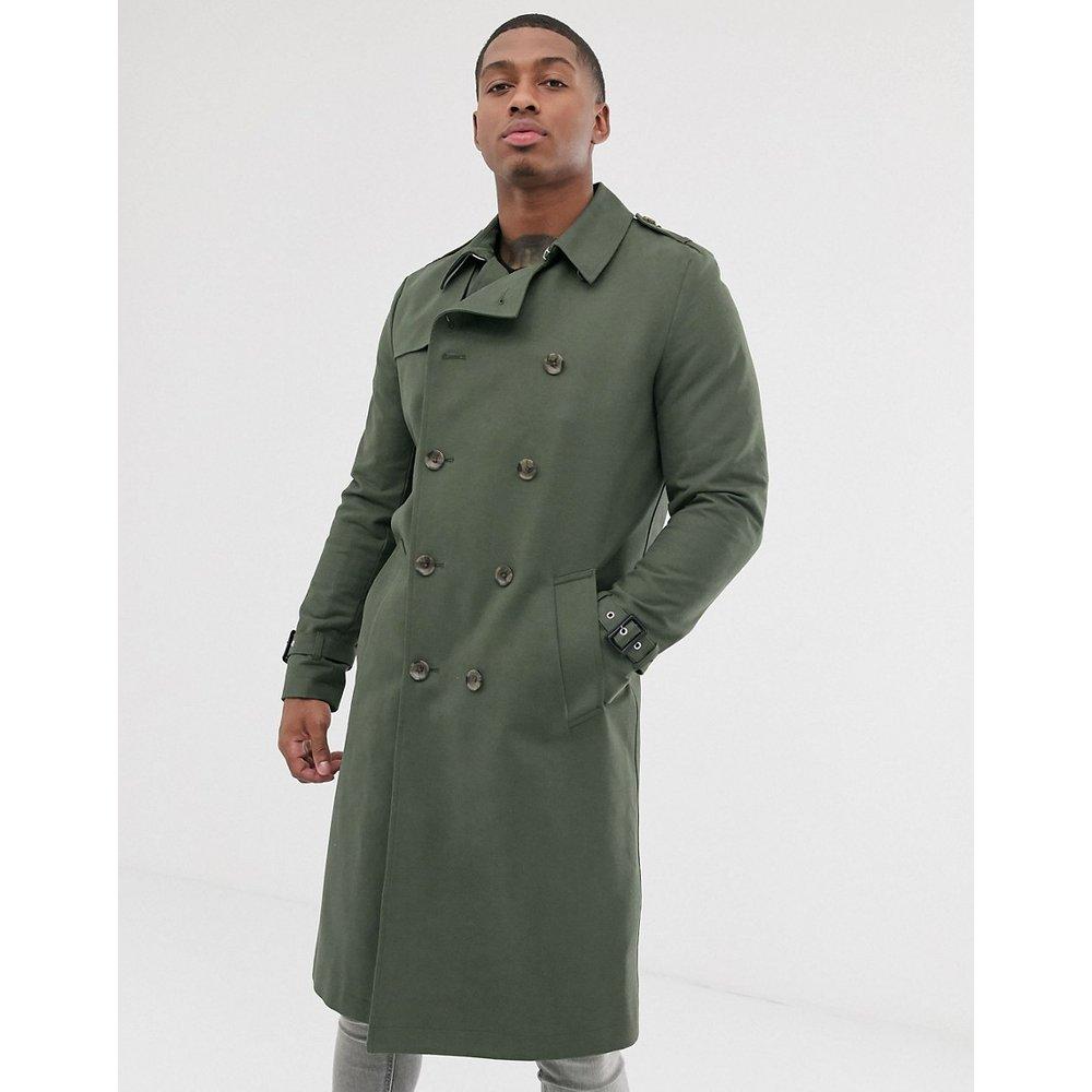 Trench-coat long imperméable avec ceinture - Kaki - ASOS DESIGN - Modalova