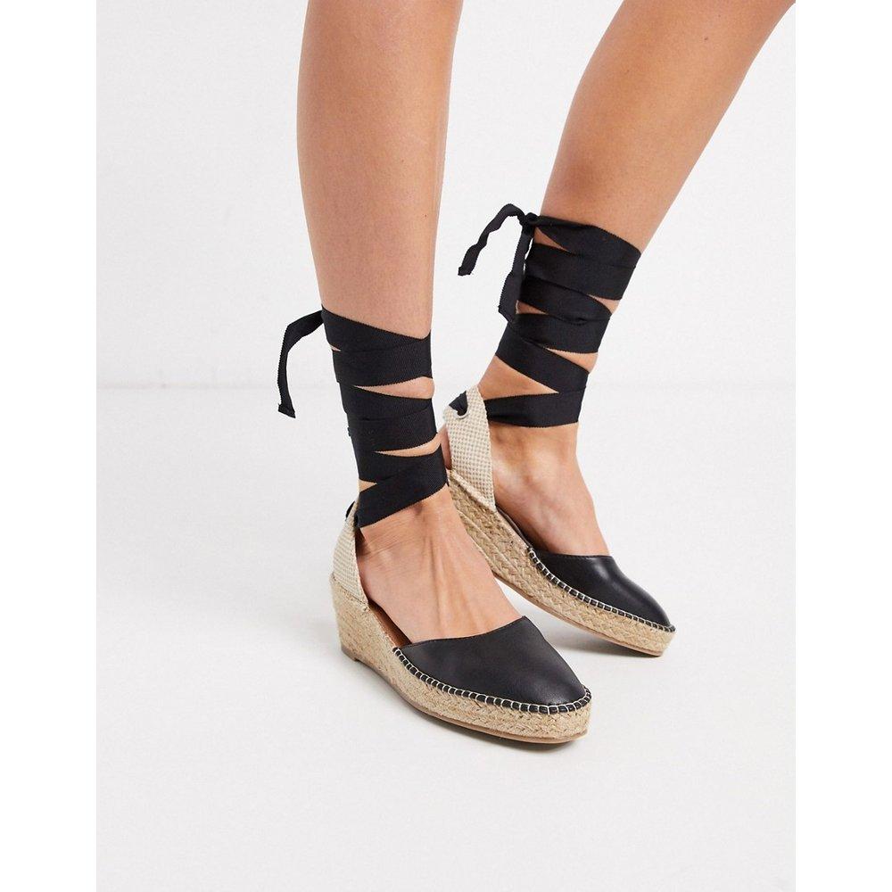 Turner - Espadrilles semi-compensées à nouer sur la jambe - ASOS DESIGN - Modalova