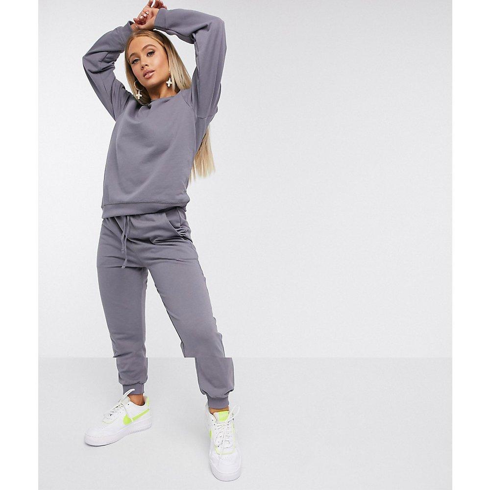 Ultimate - Survêtement avec sweat-shirt et jogger en coton biologique - Ardoise - ASOS DESIGN - Modalova