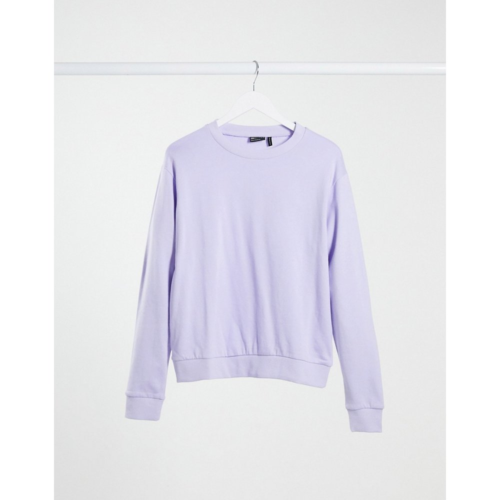 Ultimate - Sweat-shirt en coton biologique - Lilas - ASOS DESIGN - Modalova