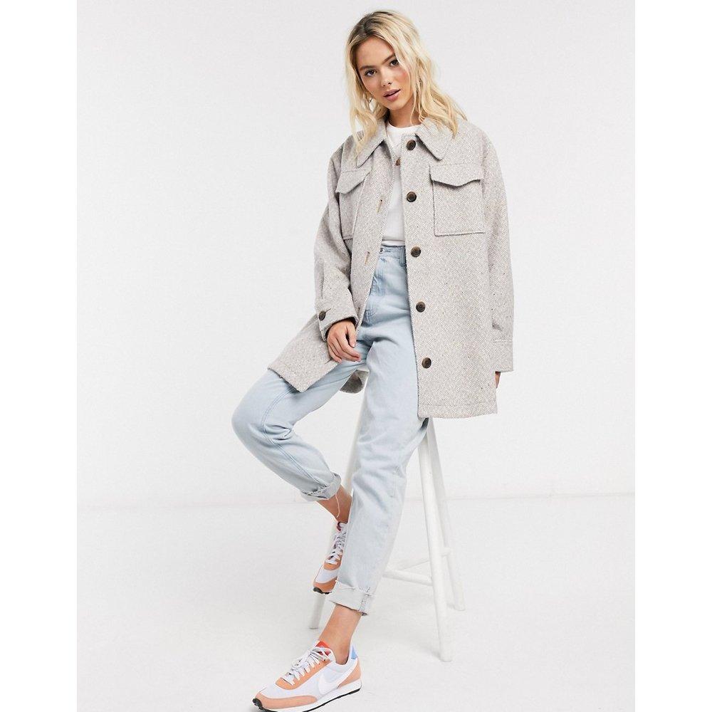 Veste chemise brossée - pastel - ASOS DESIGN - Modalova
