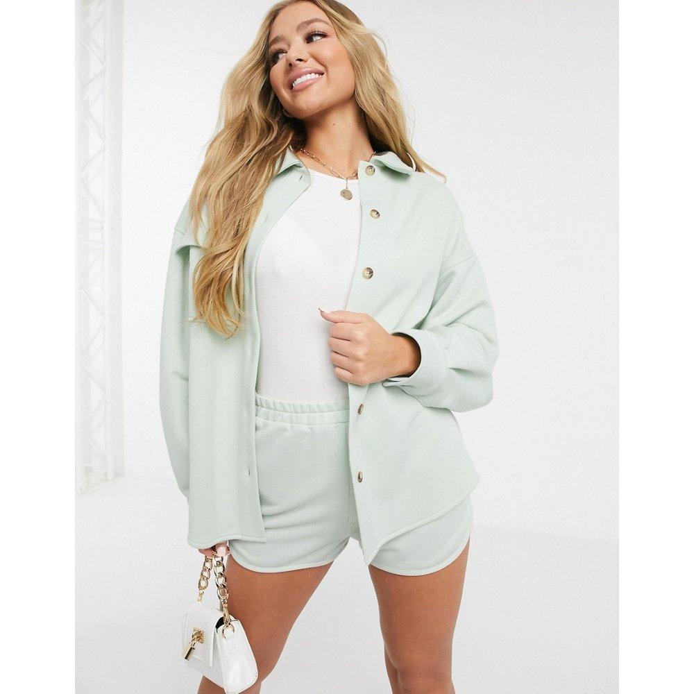 Veste chemise de tailleur en jersey - ASOS DESIGN - Modalova
