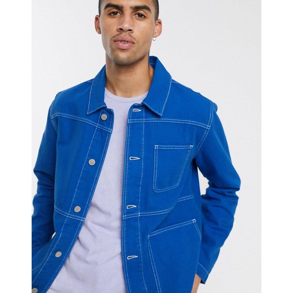 Veste chemise en jean - de cobalt - ASOS DESIGN - Modalova