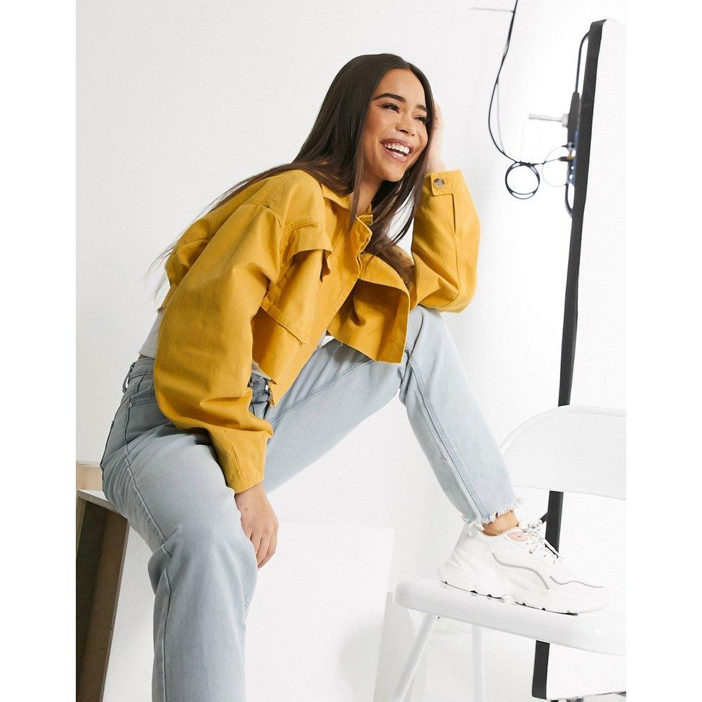 Veste chemise fonctionnelle ultra courte en jean - Jaune - ASOS DESIGN - Modalova