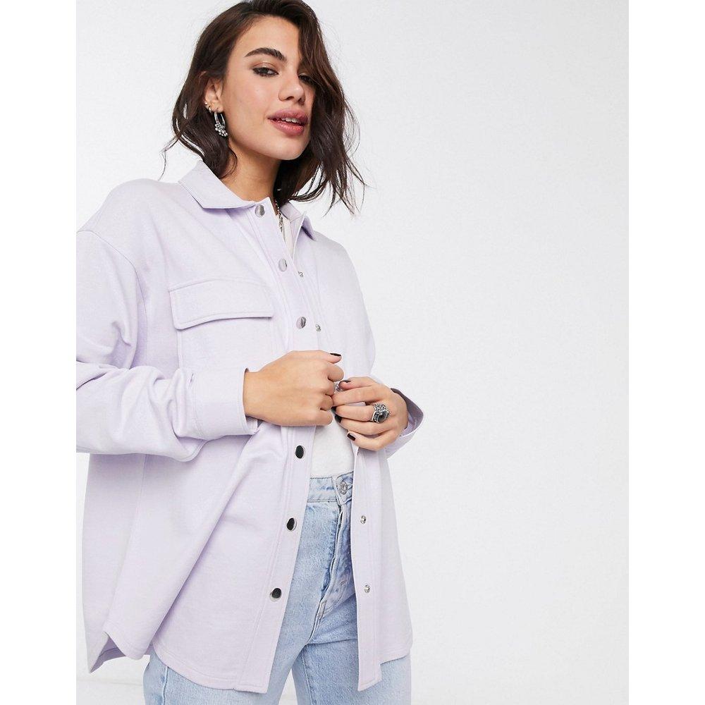 Veste chemise oversize en jersey à boutons-pression - ASOS DESIGN - Modalova