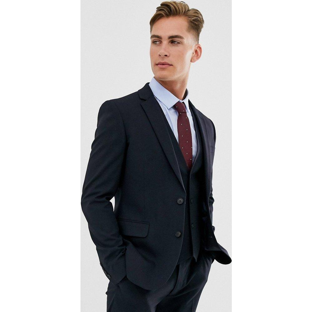 Veste de costume ajustée - Bleu marine - ASOS DESIGN - Modalova