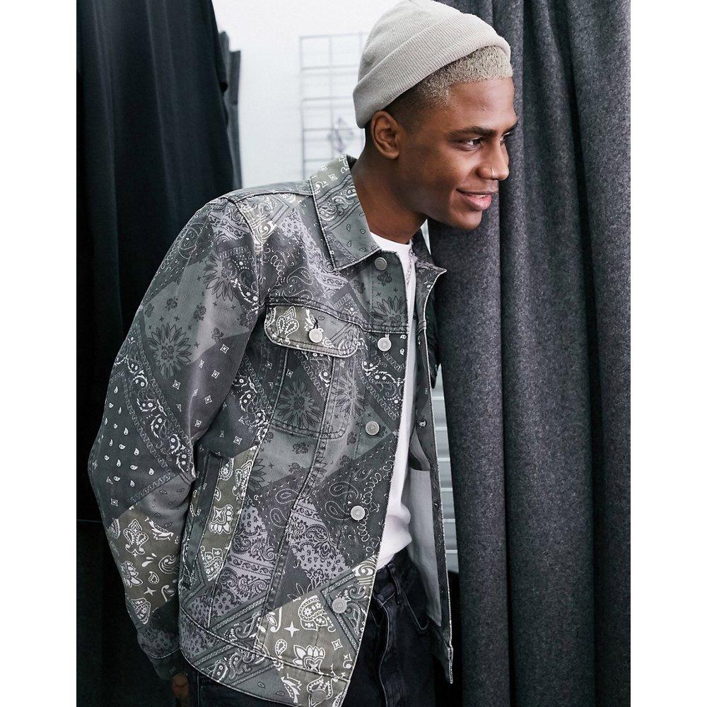 Veste en jean à imprimé cachemire - ASOS DESIGN - Modalova