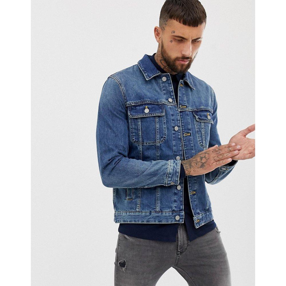 Veste en jean classique avec délavage moyen - ASOS DESIGN - Modalova