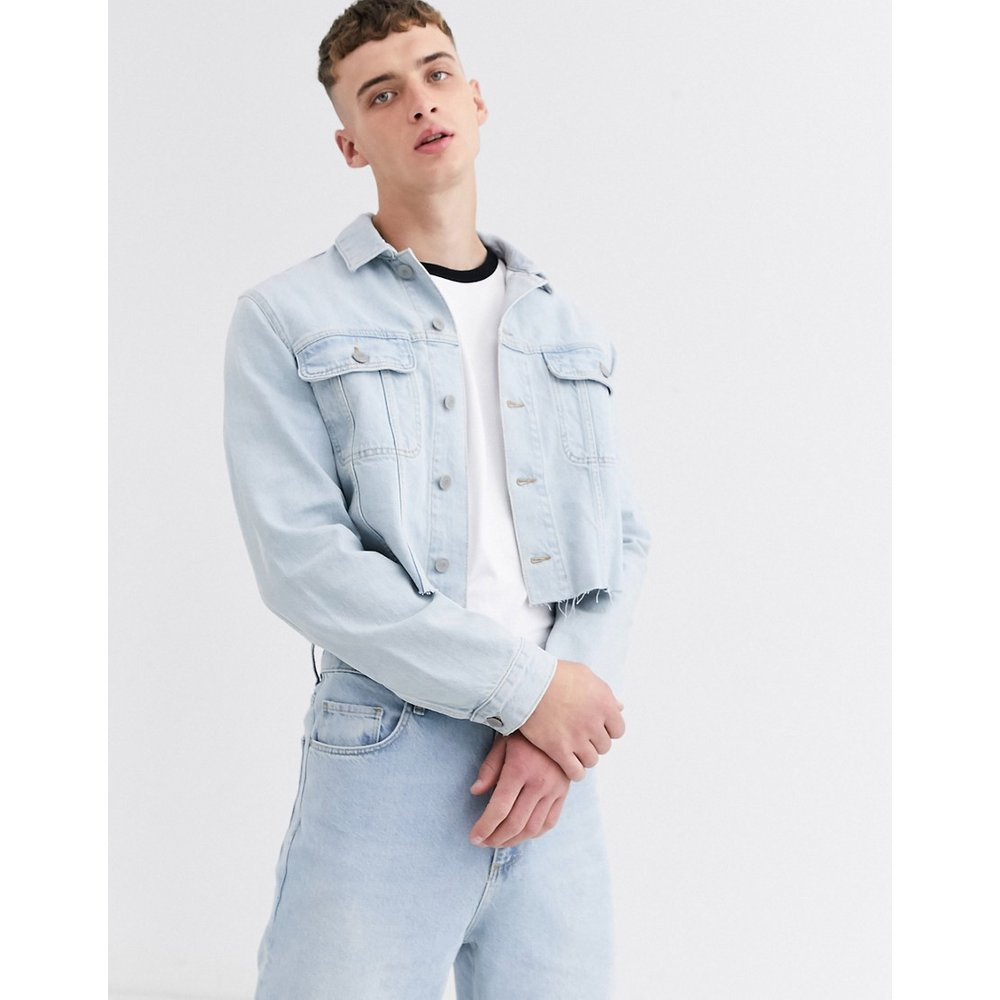 Veste en jean courte - clair délavé - ASOS DESIGN - Modalova