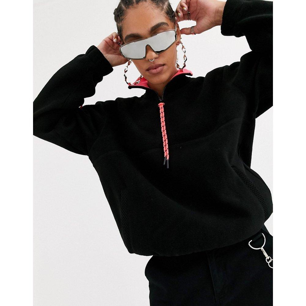 Veste oversize en polaire à bordures fluo - ASOS DESIGN - Modalova