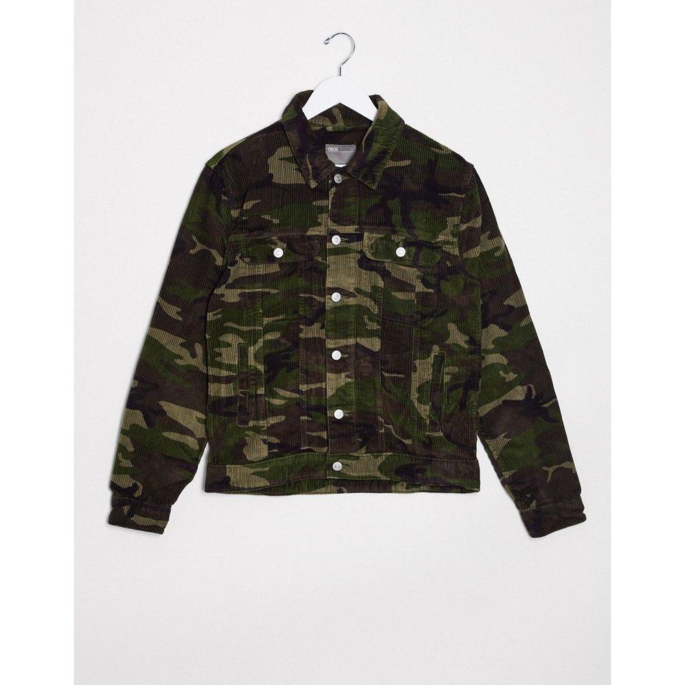 Veste style western en velours côtelé à imprimé camouflage - ASOS DESIGN - Modalova