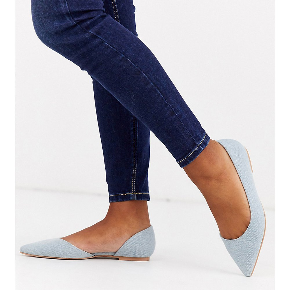 Virtue - Ballerines d'orsay pointure large en jean à bout pointu - ASOS DESIGN - Modalova